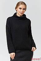 Зимний женский теплый свитер вязаный