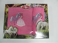 Красивый набор махровых полотенец для детей в коробке Megan