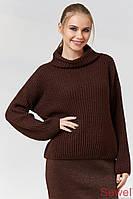 Женский зимний вязаный свитер с люрексом