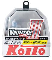 Автолампы Koito WhiteBeam III, 4000K, H27, 2шт., P0729W