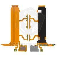 Шлейф для мобильных телефонов Sony C6833 Xperia Z Ultra, кнопки включе