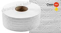 Туалетний папір Джамбо 1-но шаровий рецик., Jumbo Standard Large, 140 м Clean Point