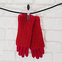 Перчатки из шерсти красный