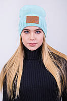 Женская шапка с подворотом
