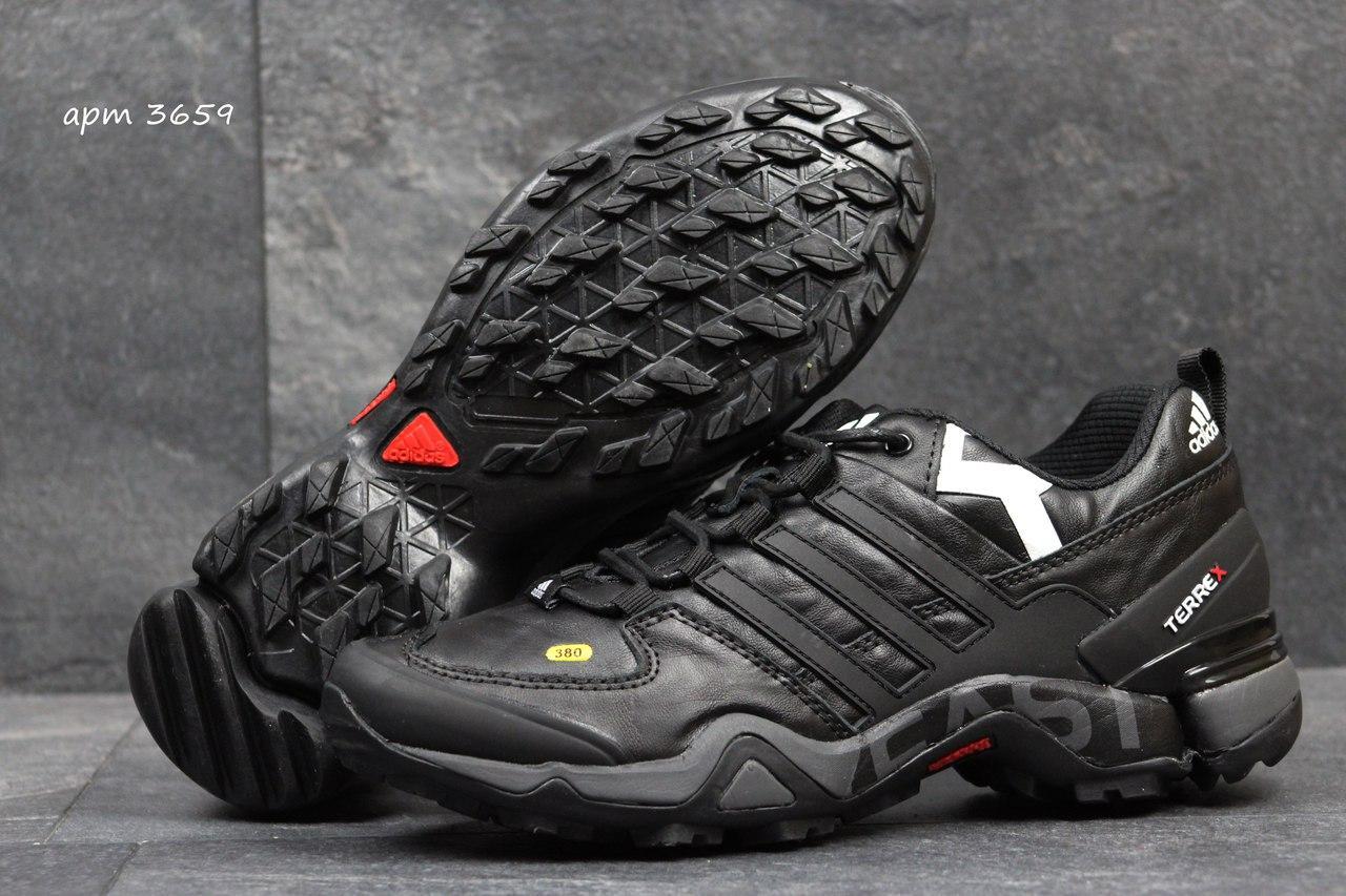 b2636e2a Мужские демисезонные кроссовки Adidas Terrex 380 черные с белым 3659
