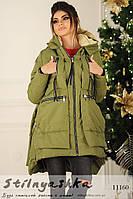 Женская куртка-трансформер хаки