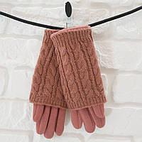 Перчатки из шерсти пудровый