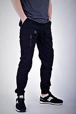 Мужские карго штаны черные ТУР Bane, фото 2