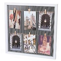 Доска с прищепками для фото и записок (43х43х2,5 см.)