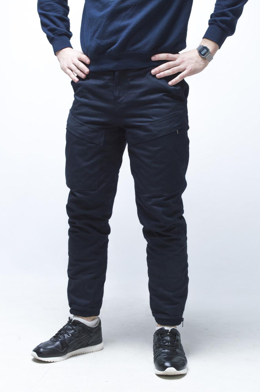 9ce8f1eb7c18 Зимние мужские карго штаны Thor темносиние S-XXL - Интернет-магазин  EuroMart (мы