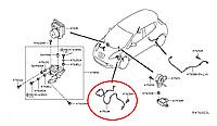 Nissan Leaf Сенсор антибукс передній