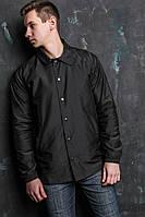 Куртка осенняя мужская черная бренд ТУР модель Coach Jacket Braddock