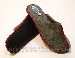 Эксклюзивные женские домашние тапочки из войлока с красным шнурком