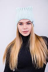 Модная женская шапка с ушками