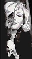 """Картины раскраски по номерам """"Изящная Мерлин"""" набор для творчества"""