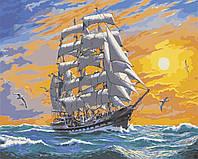 "Картины раскраски по номерам ""Хозяин морей"" набор для творчества"