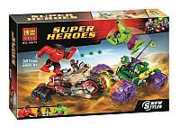 """Конструктор Bela 10675 (аналог Lego Super Heroes 76078) """"«Халк против Красного Халка"""" 387 дет"""