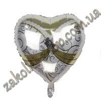 """Фольгированные воздушные шары, форма:сердце, """"алмаз"""" 18 дюймов/45 см, 1 штука"""