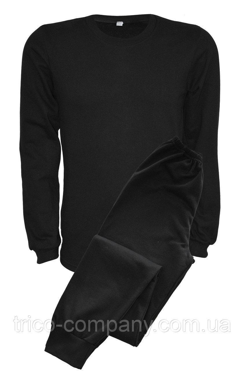 Нательное белье с начесом черное (батал)