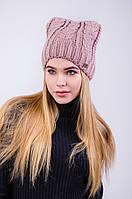 Теплая и красивая женская шапка