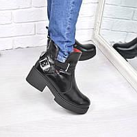 Ботинки женские Karat черные ЗИМА 3857 , ботинки женские