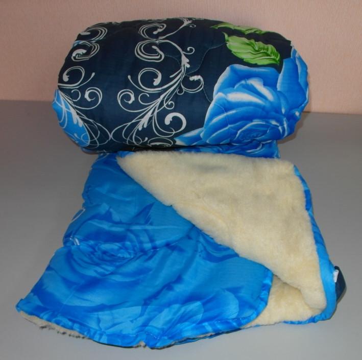 Одеяло двухспальное мех овчины а ткань полиэстер