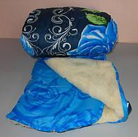 Одеяло двухспальное мех овчины а ткань полиэстер, фото 1