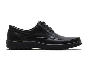 Мужские кожаные туфли больших размеров 46,47,48 на шнурке