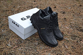 Мужские кожаные зимние кроссовки,ботинки Sport Antishok 03