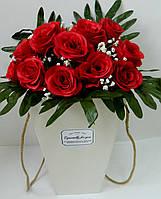 Декоративна коробка для квітів W1507, 17,5*18*30 Декоративная коробка для цветов