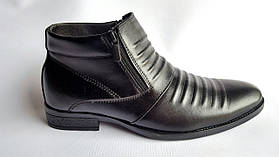 Мужские кожаные зимние ботинки BoMar 3x3