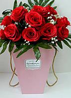 Декоративна коробка для квітів W1507-4, 17,5*18*30 Декоративная коробка для цветов