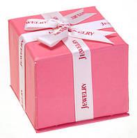 "Подарочная коробочка для кольца и серьг ""Jewelry"" розовая"