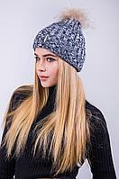 Красивая шапка с натуральным мехом