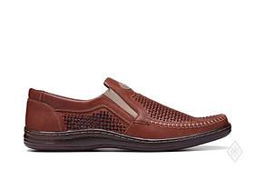 Мужские кожаные летние туфли Bastion 036 пр. 42