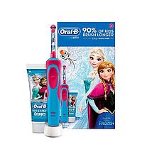Электрическая зубная щетка Braun Oral-B Vitality D12.513K Frozen Kids, паста Frozen в подарочной упаковке
