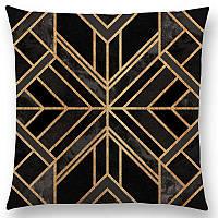 Декоративная наволочка на подушку с красочным геометрическим узором