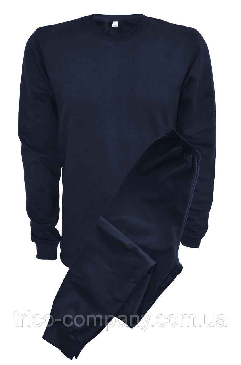 Нательное белье теплое темно-синее (батал)