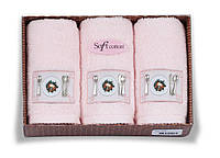 Soft cotton Кухонные наборы KITCHEN 3-х предм Pembe розовые