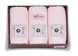 Soft cotton Кухонні набори KITCHEN 3-х предм Pembe рожеві