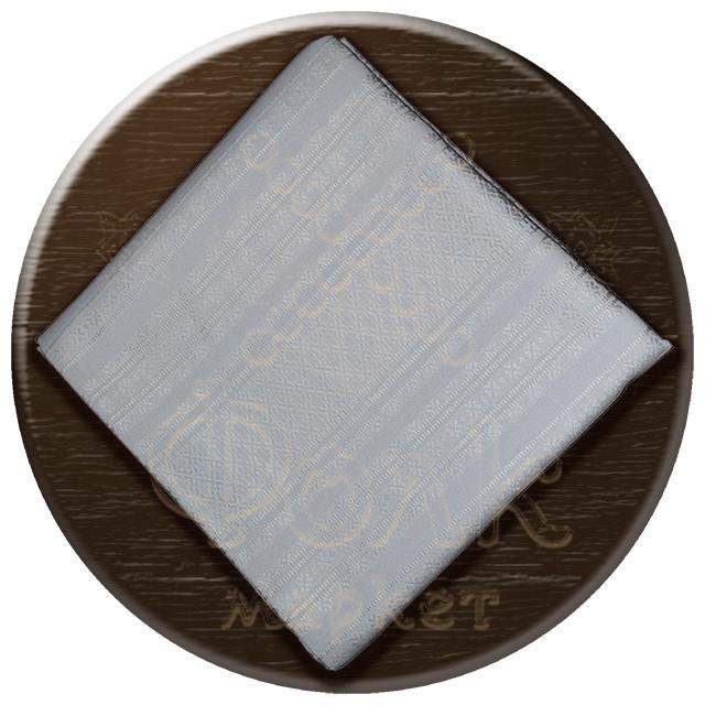 Скатерть с орнаментом белая
