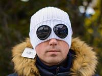 Вязаная шапка с очками C.P. Company White, Белый
