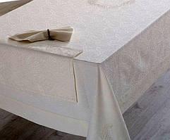 Soft cotton скатертину + 8 серветок AYDA 160х260 Ekru