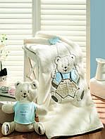 Gelin home детский вязанный плед OYUNCAKLI голубой