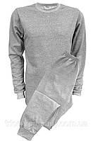 Нательное белье с начесом серое (батал)