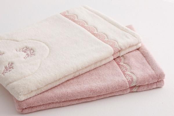 Soft cotton коврик для ног BUKET 50х90  тёмно-розовый