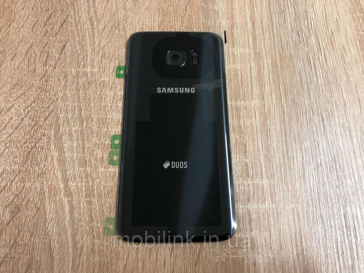 Крышка задняя Samsung S7 Edge Galaxy G935 Чёрная Black оригинал!