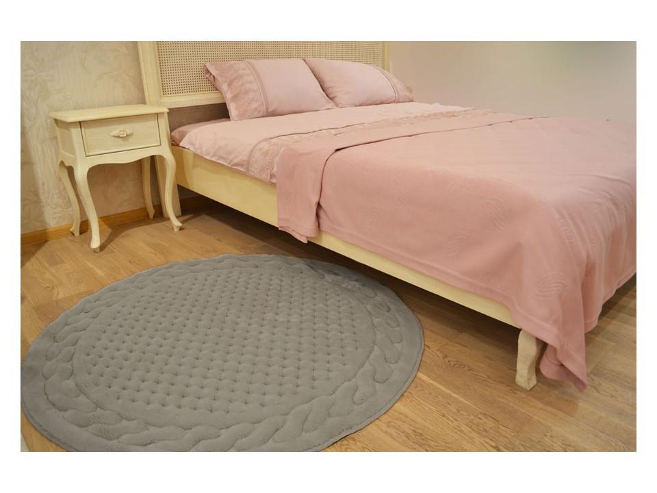 Gelin home коврик ERGUVAN круглый 120 gri. серый