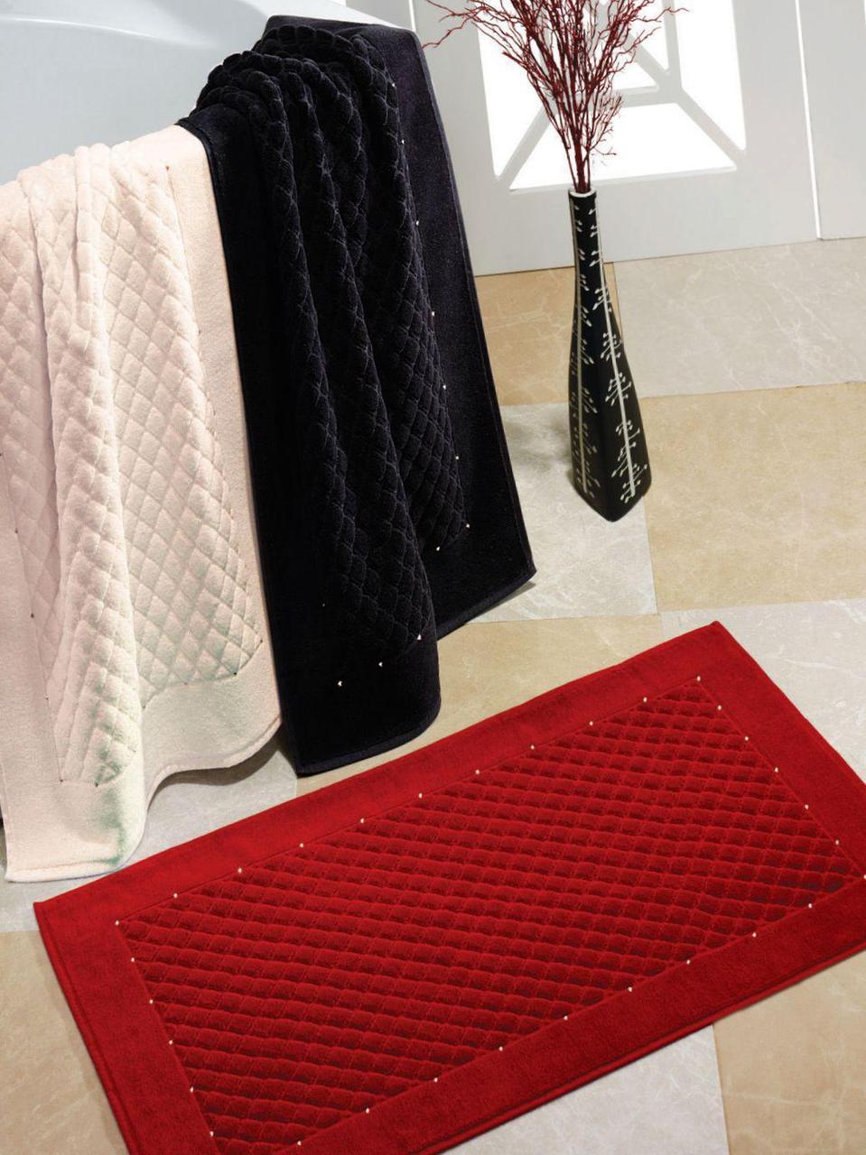 Soft cotton коврик для ног YILDIZ 50х90  BEYAZ белый