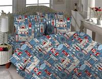Комплект постельного белья  Лондон. Полуторный. Бязь